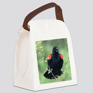 Red-Winged Blackbird Canvas Lunch Bag