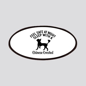 Sleep With Chinese Crested Dog Designs Patch