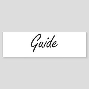 Guide Artistic Job Design Bumper Sticker