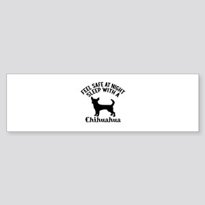 Sleep With Chihuahua Dog Designs Sticker (Bumper)
