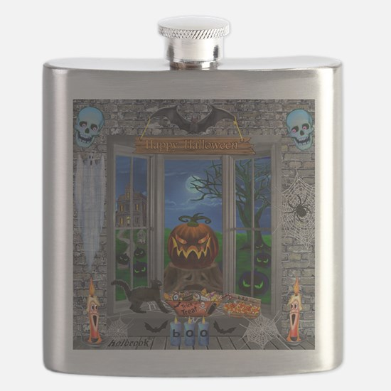 Cute Graveyard Flask
