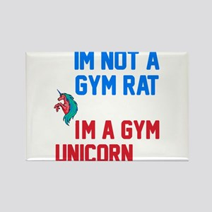Gym Unicorn Rectangle Magnet