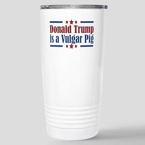 Trump Vulgar Pig Stainless Steel Travel Mug