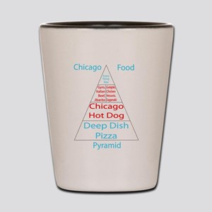 Chicago Food Pyramid Shot Glass