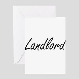 Landlord Artistic Job Design Greeting Cards