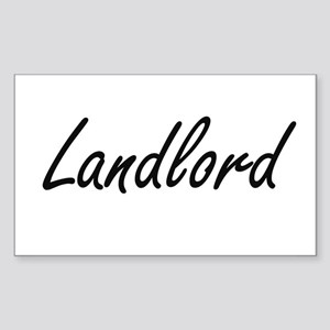 Landlord Artistic Job Design Sticker