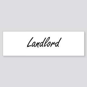 Landlord Artistic Job Design Bumper Sticker