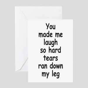 Laugh So Hard 3 Greeting Cards