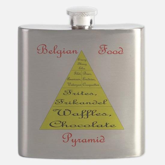 Belgian Food Pyramid Flask