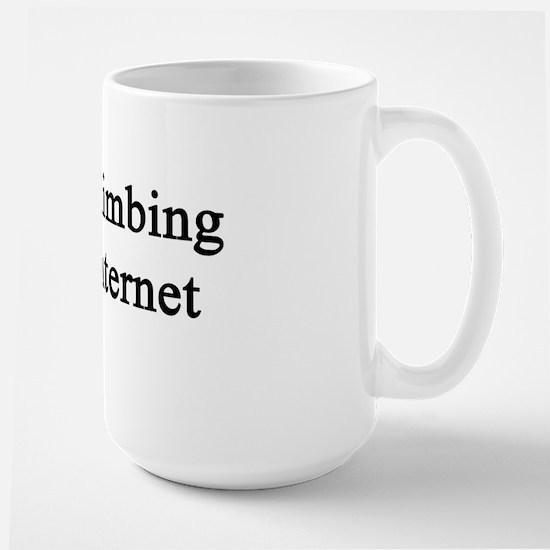 Rock Climbing Over Internet  Large Mug