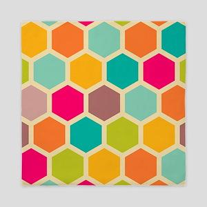 Hexagon Retro Queen Duvet