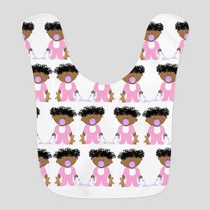 Cute curly girl pattern Bib