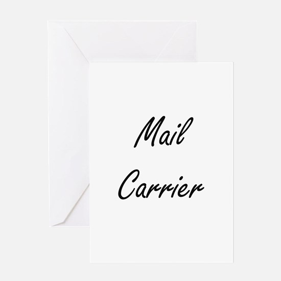 Mail Carrier Artistic Job Design Greeting Cards