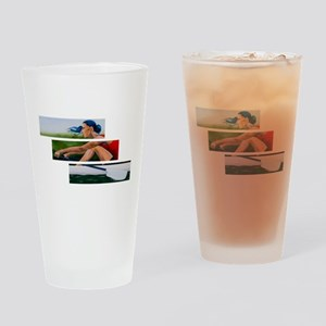 rowing 11x17 Drinking Glass