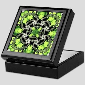 Fragments Pattern Green Keepsake Box