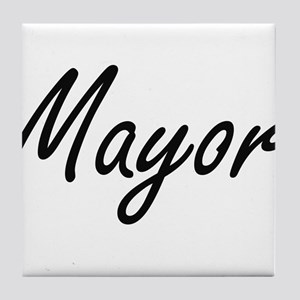 Mayor Artistic Job Design Tile Coaster