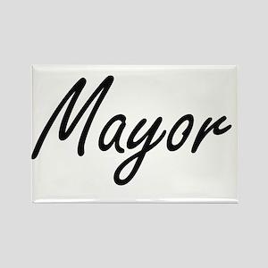 Mayor Artistic Job Design Magnets