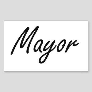 Mayor Artistic Job Design Sticker