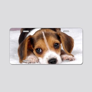 Cute Puppy Aluminum License Plate