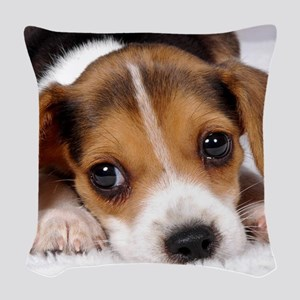 Cute Puppy Woven Throw Pillow