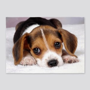 Cute Puppy 5'x7'Area Rug
