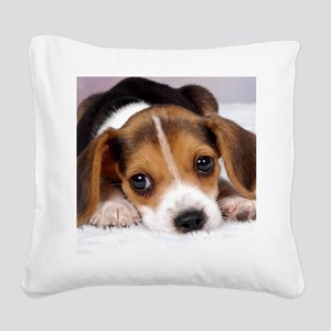 Cute Puppy Square Canvas Pillow