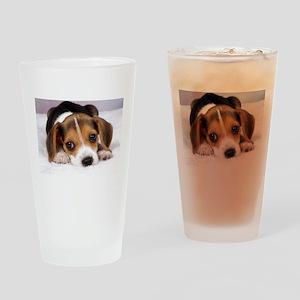 Cute Puppy Drinking Glass