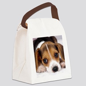 Cute Puppy Canvas Lunch Bag