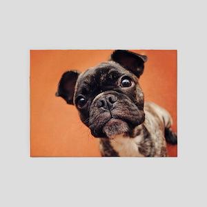 Bulldog Puppy 5'x7'Area Rug
