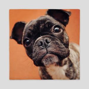 Bulldog Puppy Queen Duvet