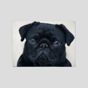 Pug Face 5'x7'Area Rug