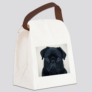 Pug Face Canvas Lunch Bag