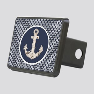 navy blue geometric patter Rectangular Hitch Cover
