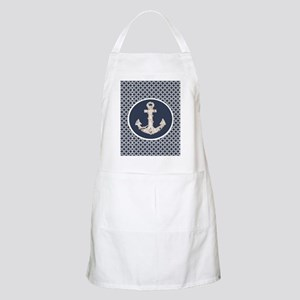 navy blue geometric pattern anchor Apron