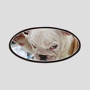 Funny English Bulldog Puppy Patch