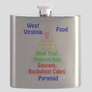 West Virginia Food Pyramid Flask