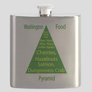 Washington Food Pyramid Flask