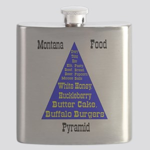 Montana Food Pyramid Flask