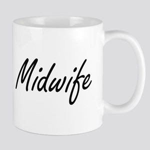 Midwife Artistic Job Design Mugs