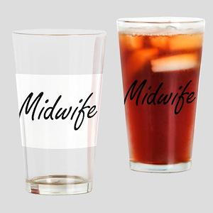 Midwife Artistic Job Design Drinking Glass