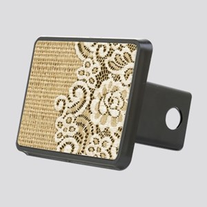 vintage rustic burlap and  Rectangular Hitch Cover