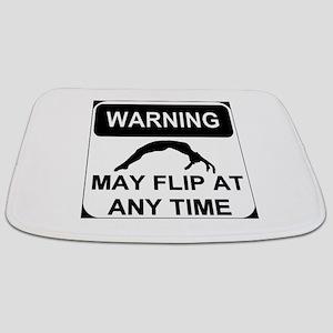 Warning may flip gymanstics Bathmat