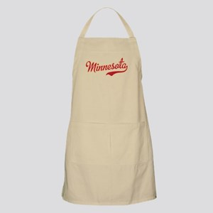 Minnesota Script Crimson and Gold Apron