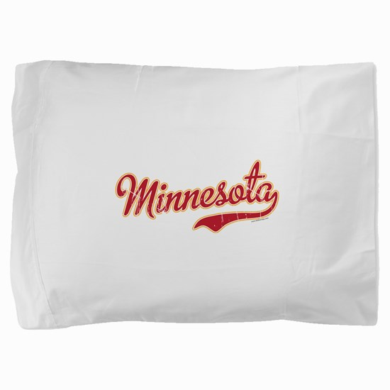 Minnesota Script Crimson and Gold Pillow Sham