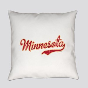 Minnesota Script Crimson and Gold Everyday Pillow