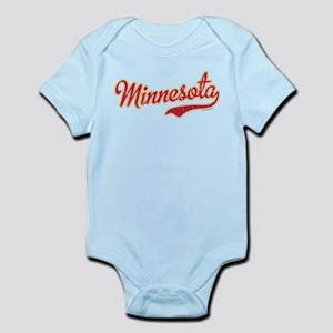 Minnesota Script Crimson and Gold Infant Bodysuit