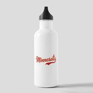 Minnesota Script Crims Stainless Water Bottle 1.0L
