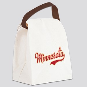 Minnesota Script Crimson and Gold Canvas Lunch Bag