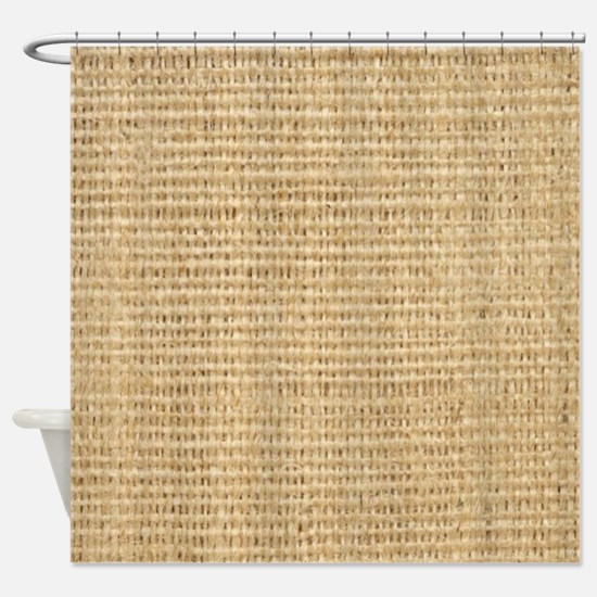 rustic western country beige burlap Shower Curtain