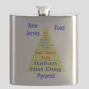 New Jersey Food Pyramid Flask